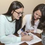 Two women working — Stock Photo #36381837