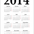 French Calendar 2014, vector — Stock Vector