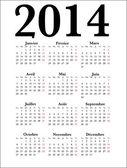 French Calendar 2014, vector — Stock Vector