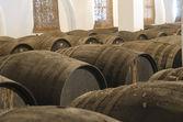 Barrels for wine cellar — Stock Photo