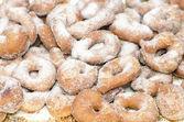 Handmade Doughnuts with sugar — Stock Photo