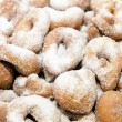 Stock Photo: Doughnuts dusted with sugar