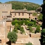 Medieval castle in the Alhambra, Granada — Stock Photo
