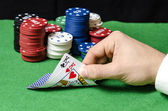 Pair of kings in poker — Stock Photo