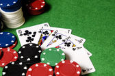 Royal Flush in poker — Stock Photo
