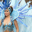 Beautiful and sexy woman samba dancer during the Carnival — Stock Photo #41966487