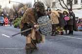 Man dressed Neanderthal in carnival — Stock Photo