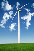 Windmills to generate wind power — Stock Photo