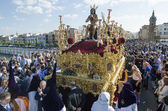 "SEVILLE. SPAIN - APRIL 13: The brotherhood of ""La Estrella"" In t — Stock Photo"