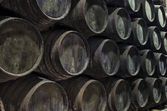 Old wine barrels — Stock Photo