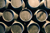 Whisky or wine barrels — Stock Photo