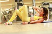 Woman doing abdominal — Stock Photo