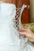Bride's Back — Stock Photo