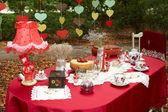 Elegant tea table — Stock Photo