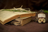 Old Book Selective focus — Stock fotografie