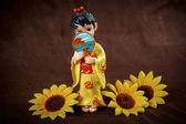 Figurine Japanese Geisha — Stock Photo