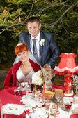 Pareja feliz día de boda — Foto de Stock