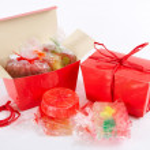 Red handmade soap — Stock Photo
