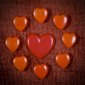 Vintage hearts for Valentine's Day — Stock Photo