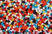 Colorful bead background — Stock Photo