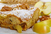 Slice of tasty homemade apples pie — Stock Photo