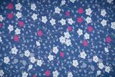 Background Fabric Texture with flowers — Zdjęcie stockowe
