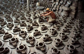 Potter's factory ceramic at Mang Thit, Vinh Long, Viet Nam — Foto Stock
