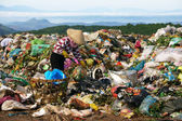 People pick up refuse at rubbish dump — Stock Photo