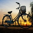 Bicycles in sunrise — Stock Photo