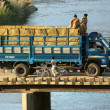 Stock Photo: Truck on small bridge