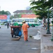 Stock Photo: Sanitation worker working