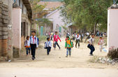 School is out at countryside — Foto Stock