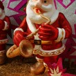 Foto de Stock  : Santclaus playing intrument