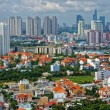Stock Photo: Overview of populated city serried of concrete house