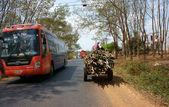 Traffic of transport vehicle on highway — Foto de Stock