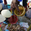 Seafood market on beach — Stock Photo #41653715