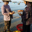 Seafood market on beach — Stock Photo #41653833