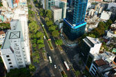 Panoramic  Ho Chi Minh city, vietnam on day — Stock Photo