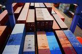 Contenitore presso il deposito di merci, vietnam — Foto Stock