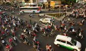 Citizen transport by motorcycles, Ho chi Minh, vietnam — Stock Photo