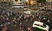Citizen transport by motorcycles, Ho chi Minh, vietnam — Stock Photo