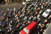 Crowded, dense with motorbike in Vietnam — Stock Photo
