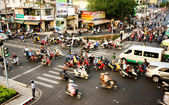Transfer by motorbike, unsafe situation, Viet nam — Stock Photo