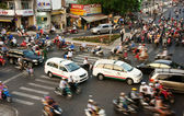 Transfer by motorcycle, unsafe situation, Viet nam — Stock Photo