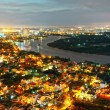 Impression landscape of Ho Chi Minh city from high view — Stock Photo