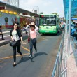 Ben Thanh bus stop — Stock Photo #46503359