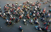 Amazing trafic of Asia city in rush hour — Stock Photo