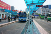 Ho Chi Minh bus stop — Stock Photo