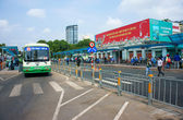 Passenger bus station — Stock Photo