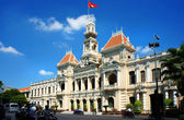 Abstract panaroma of people's Committee of Ho Chi Minh city — Stock Photo